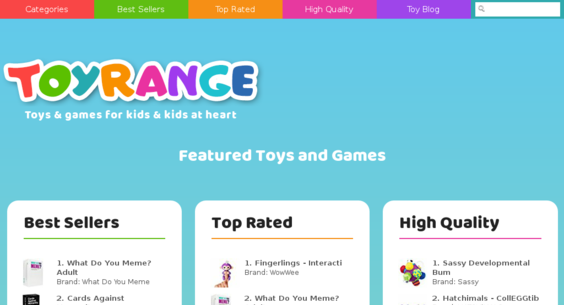 toyrange com — Website Sold on Flippa: Amazon Affiliate Wordpress